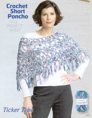 Granny Poncho Crochet Pattern | Red Heart