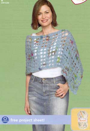 Free Crochet Pattern 50189-4C Martha Stewart 'Coming Home' Poncho