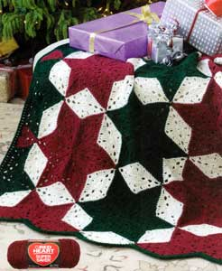 Crochet Super Stars 6 Points Afghans - YouTube