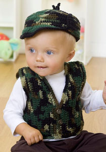 babys gone a hunting vest and hat