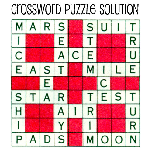 ... space kids printable crossword puzzle free patterns yarn | Source Link