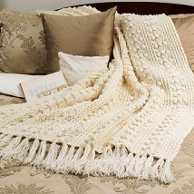 * 3 * Quick Crocheted Afghan Patterns - Fisherman/Desert Sands