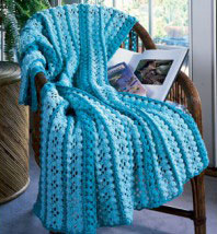 Afghans Thermal Mile-A-Minute Aztec + GYS Crochet Patterns