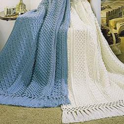 Free Crochet Patterns Fisherman Afghan : Galway & Cork Afghans Crochet Pattern Purple Kitty