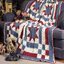 Liberty Quilt Crochet Pattern Purple Kitty