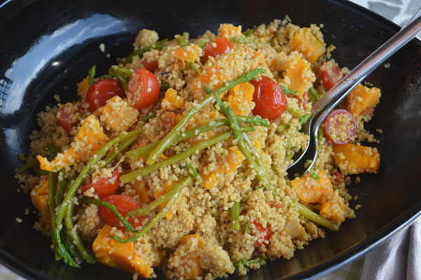 ... vegetarian dish utilizing herbs and spices to boost the couscous to