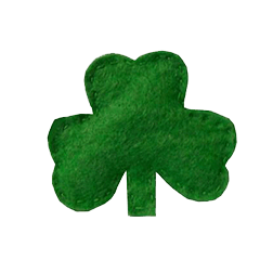 3 Leaf Clover St Patrick's Day Brooch
