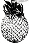 Pink Crocheted Glitter Ornament Pattern