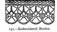 Embroidered Border.