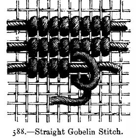 Straight Gobelin Stitch.