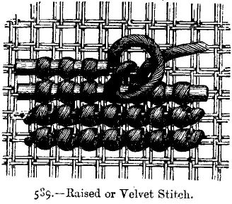 Raised or Velvet Stitch.