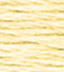 dmc brilliant tatting cotton thread very light pale yellow