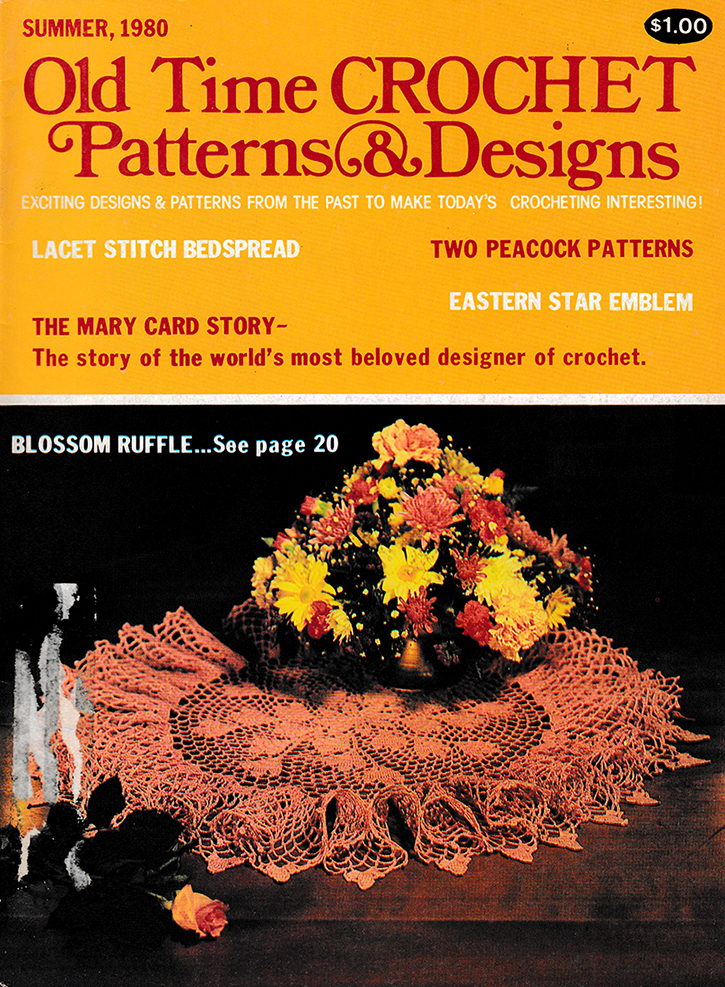 Old Time Crochet Patterns & Designs Magazine | Summer 1980