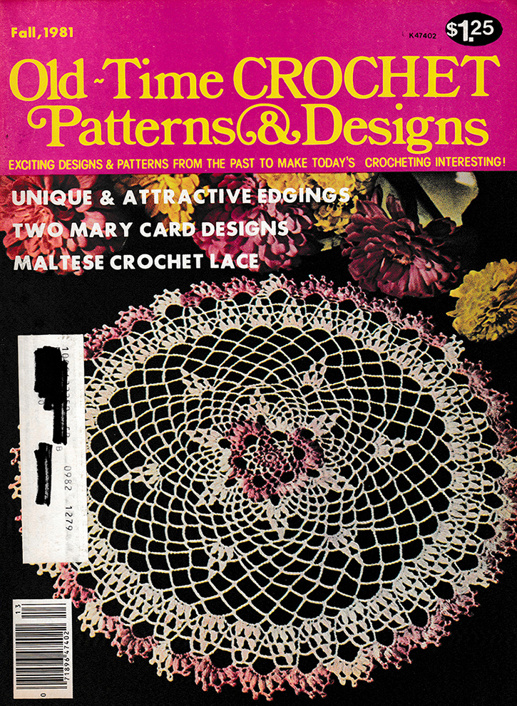 Old Time Crochet Patterns & Designs Magazine | Fall 1981