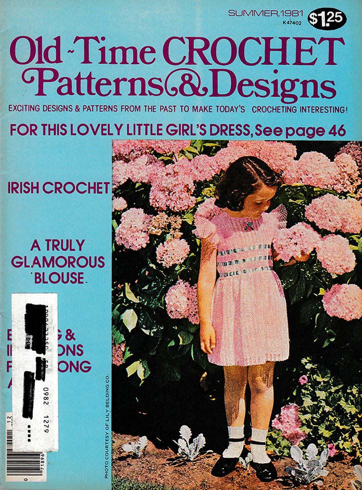 Old Time Crochet Patterns & Designs Magazine | Summer 1981