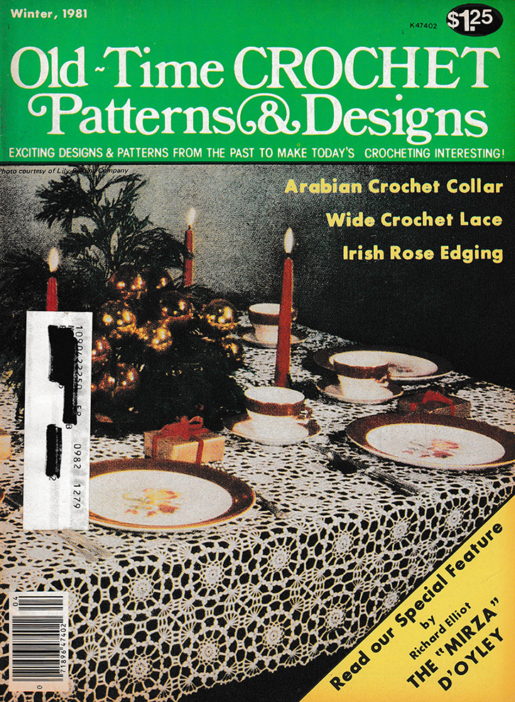Old Time Crochet Patterns & Designs Magazine | Winter 1981
