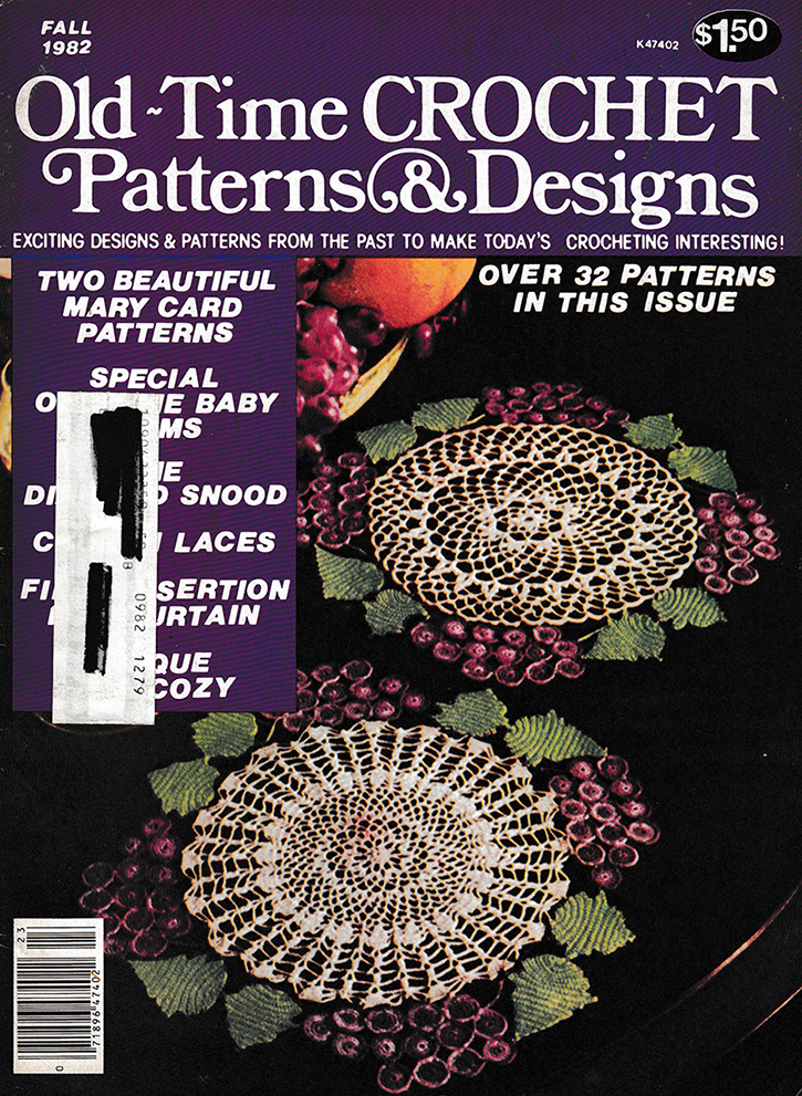 Old Time Crochet Patterns & Designs Magazine | Fall 1982