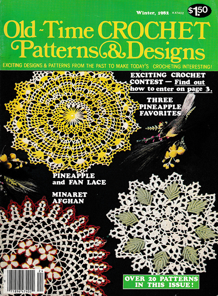 Old Time Crochet Patterns & Designs Magazine | Winter 1982