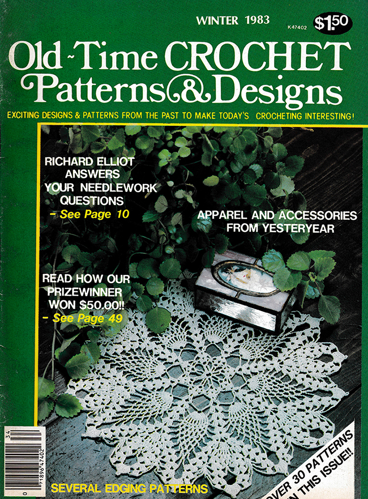 Old Time Crochet Patterns & Designs Magazine | Winter 1983