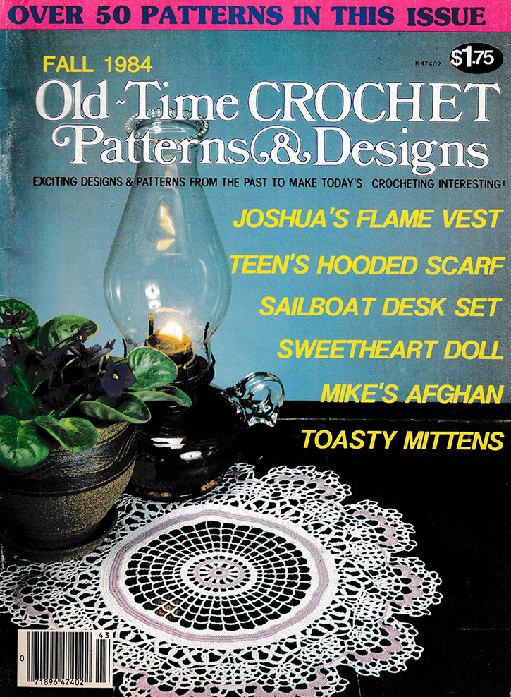 Old Time Crochet Patterns & Designs Magazine | Fall 1984