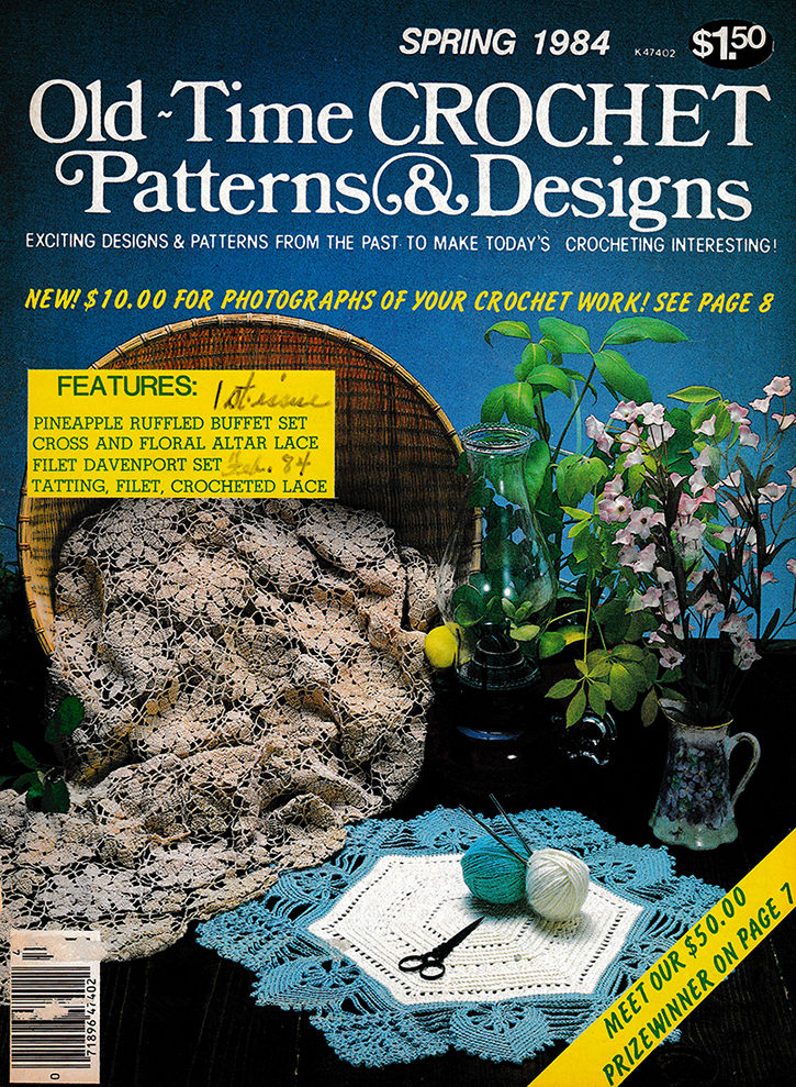 Old Time Crochet Patterns & Designs Magazine | Spring 1984