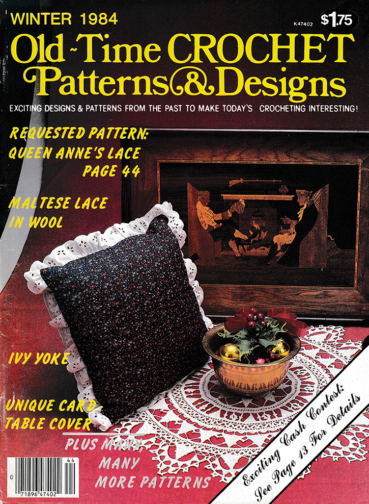 Old Time Crochet Patterns & Designs Magazine | Winter 1984