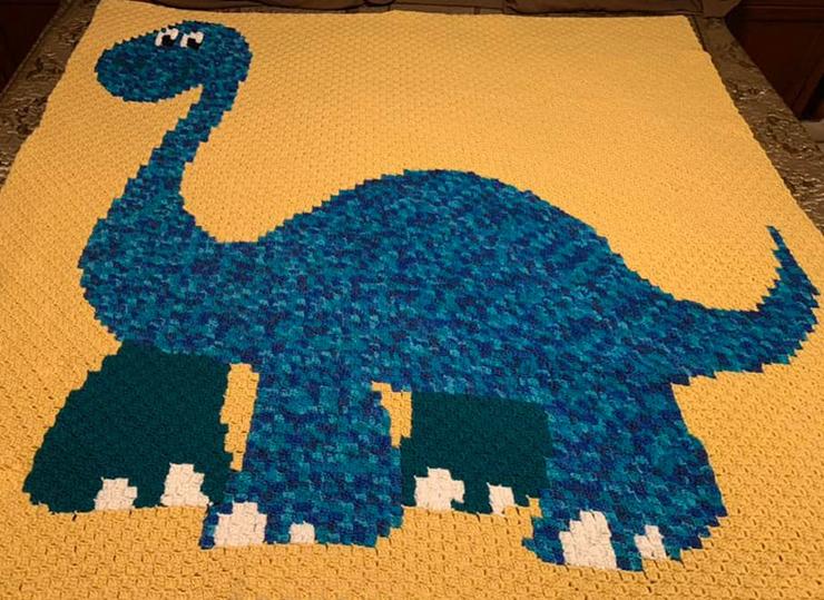 Brachiosaurus Dinosaur Graphgan | 100 x 100 Chart