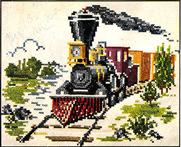 Locomotive in Cross-stitch | McCall's No. 1683