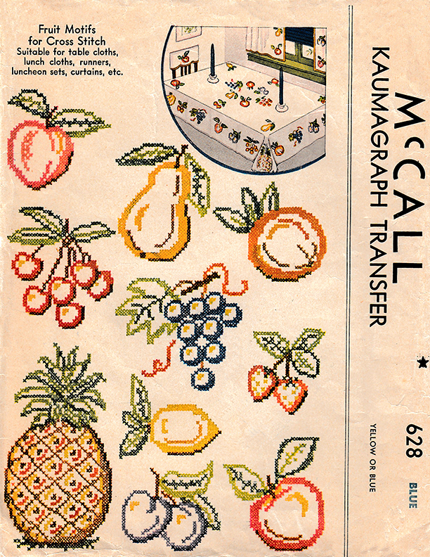 Fruit Motifs for Cross Stitch | McCall's No. 628