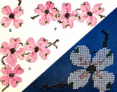 Dogwood Blossoms Chart Pattern