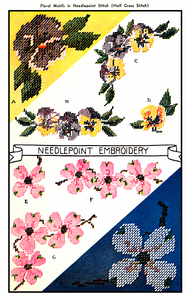 Pansy and Dogwood Blossoms | McCall's No. 902