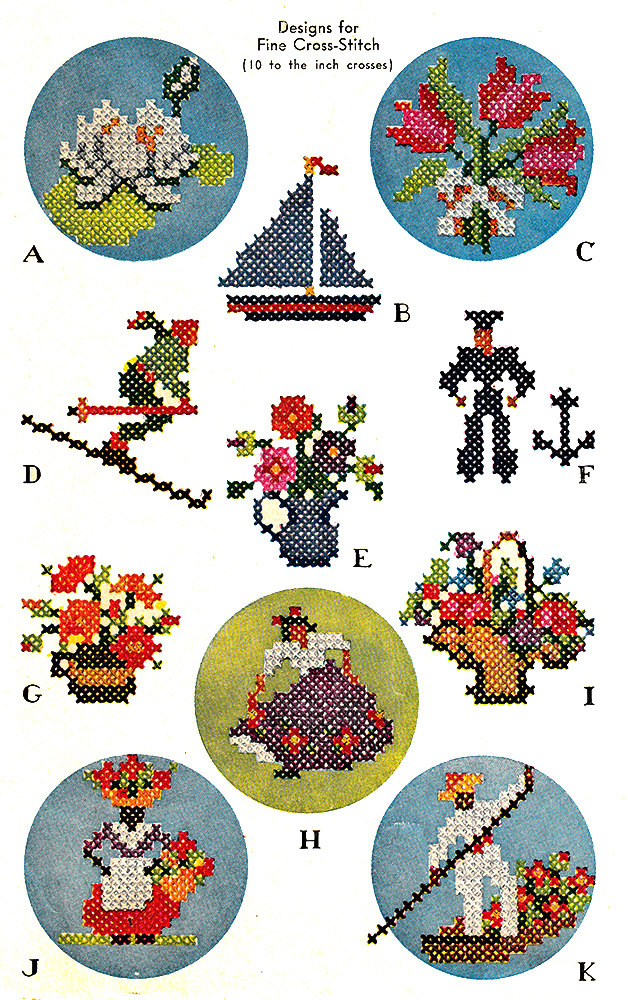 Small Motifs for Cross Stitch | McCall's No. 923