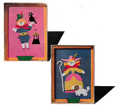 Nursery Rhyme Shadow-Box Pictures Cut and Paste Craft
