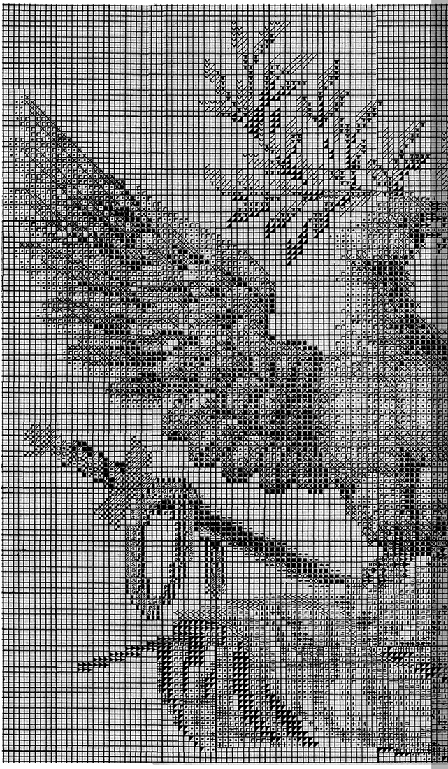 Embroider an Eagle chart 1