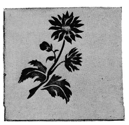 Chrysanthemum Stenciling Craft