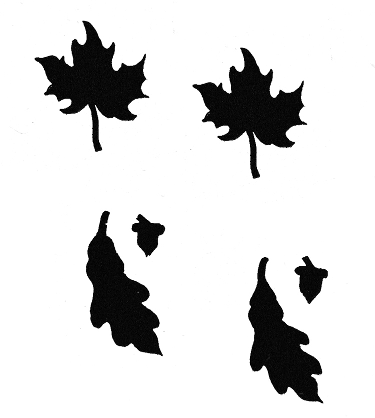 Maple Leaf and Oak Leaf Stenciling Craft