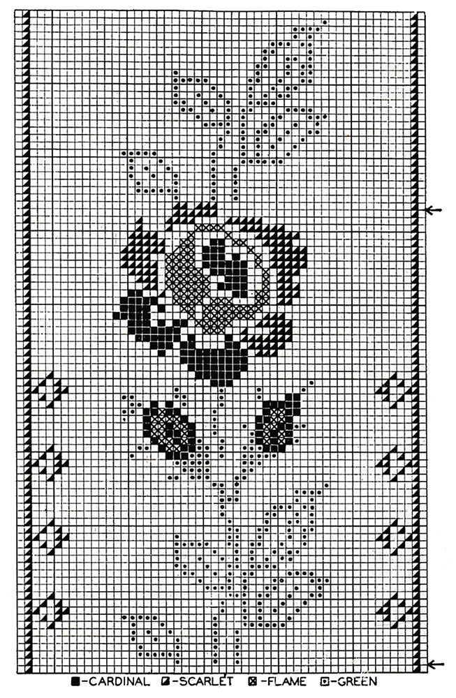American Rose Cross Stitch Chart