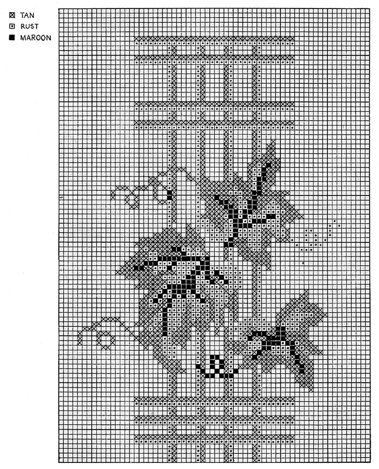 Vine and Trellis Cross Stitch Chart